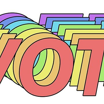 Rainbow VOTE Logo by IntrepiShirts