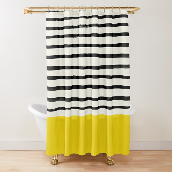 Sunshine x Stripes Shower Curtain