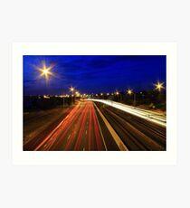 Kwinana Freeway At Dusk  Art Print