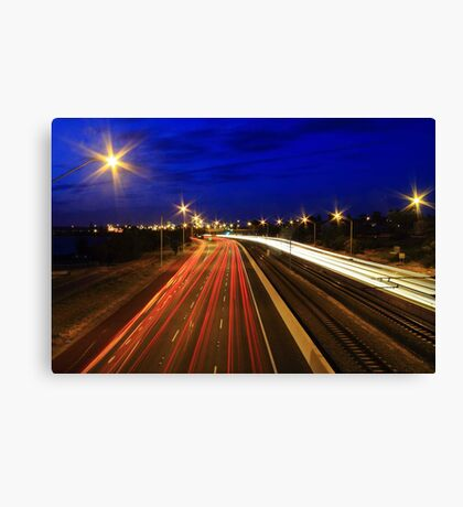 Kwinana Freeway At Dusk  Canvas Print