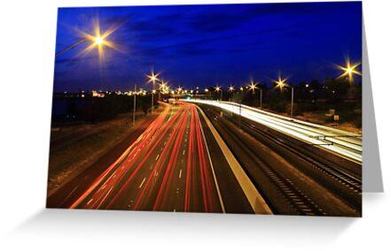 Kwinana Freeway At Dusk  by EOS20