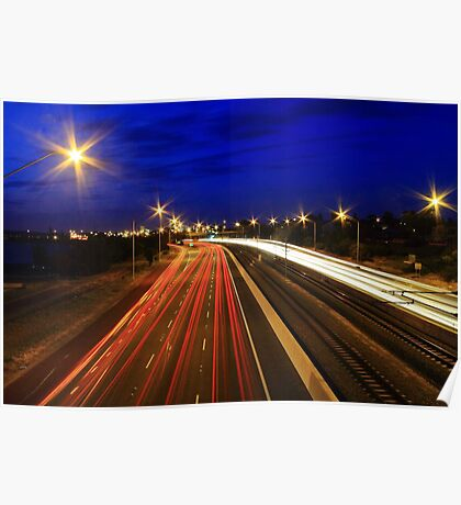 Kwinana Freeway At Dusk  Poster