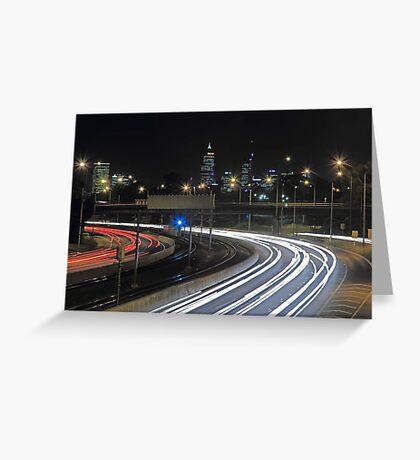 Perth City Traffic  Greeting Card