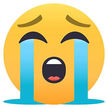 Loudly Crying Face Emoji by joypixels