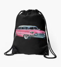 Pink Cadillac Drawstring Bag