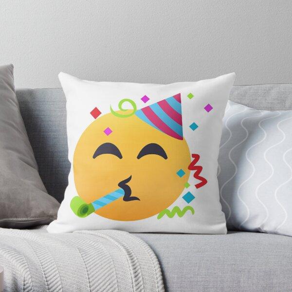 JoyPixels™ Partying Face Emoji Throw Pillow