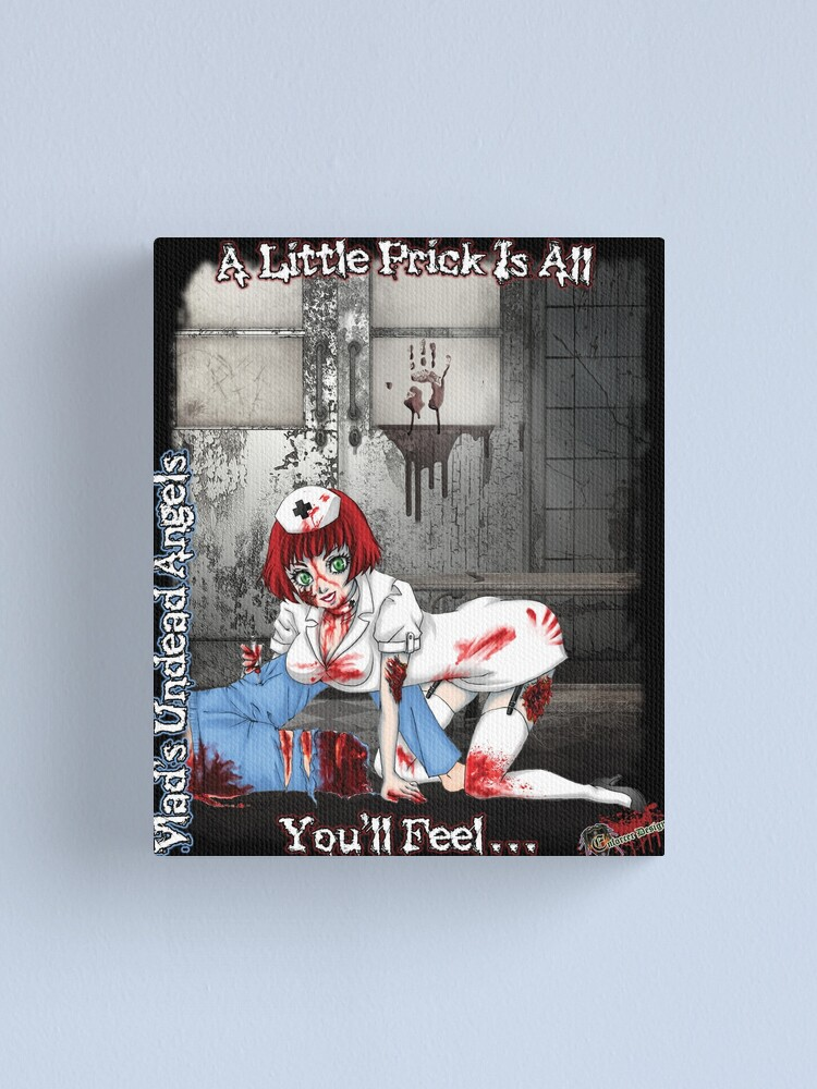 Alternate view of Undead Angels: Zombie Nurse Canvas Print