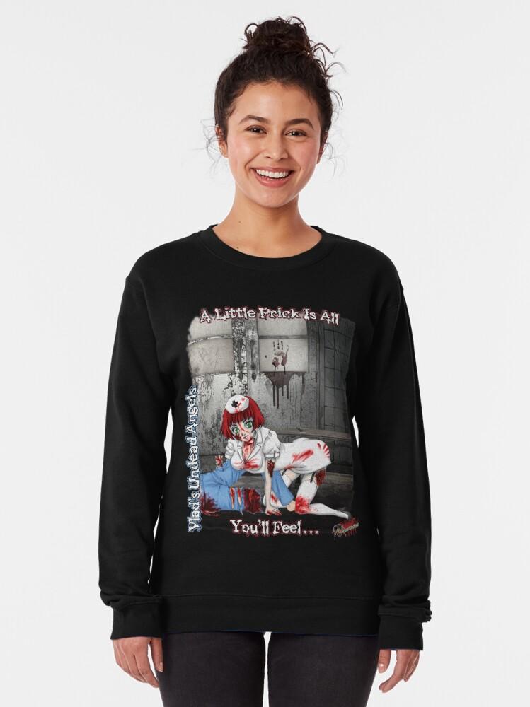 Alternate view of Undead Angels: Zombie Nurse Pullover Sweatshirt