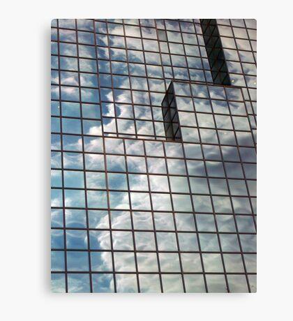 windows in blue Canvas Print