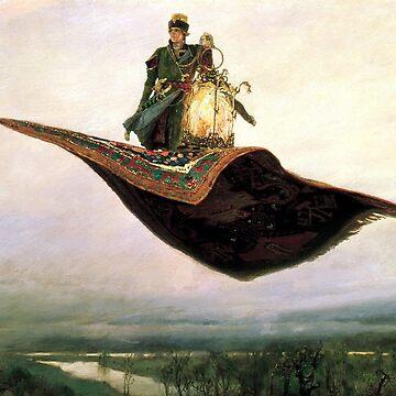 Man on flying Carpet by Evilninja