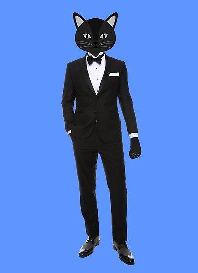 Gentleman Tuxedo suit | Cat Art Design by CarlosV