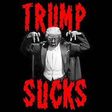 Halloween Political Funnies Trump Sucks Parody  by JNicheMerch2018
