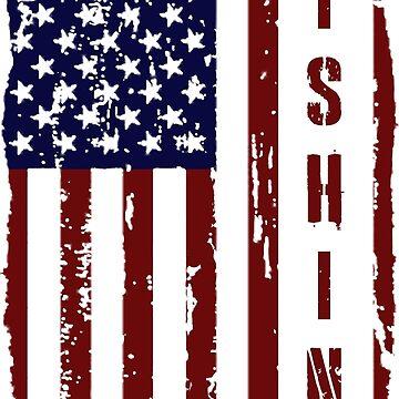 Fishing United States Flag by radekk1103
