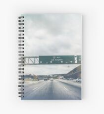 Los Angeles Road Sign California Spiral Notebook