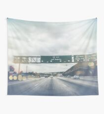 Los Angeles Road Sign California Wall Tapestry
