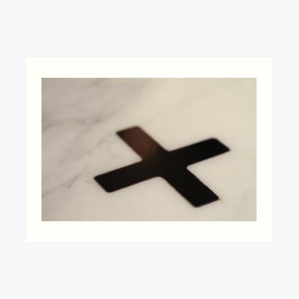 Big Black Cross Art Print