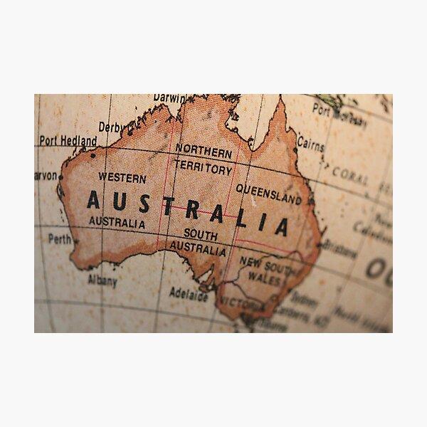 Australia map Photographic Print