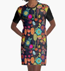 Magical night garden Graphic T-Shirt Dress