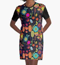 Magischer Nacht Garten T-Shirt Kleid
