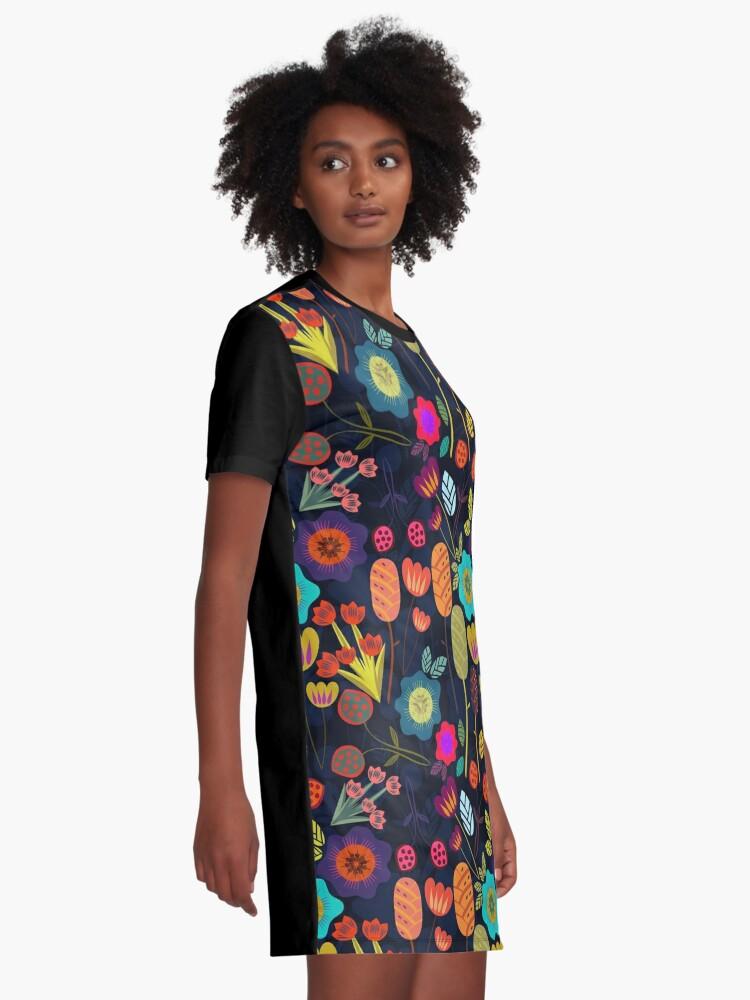 Alternate view of Magical night garden Graphic T-Shirt Dress