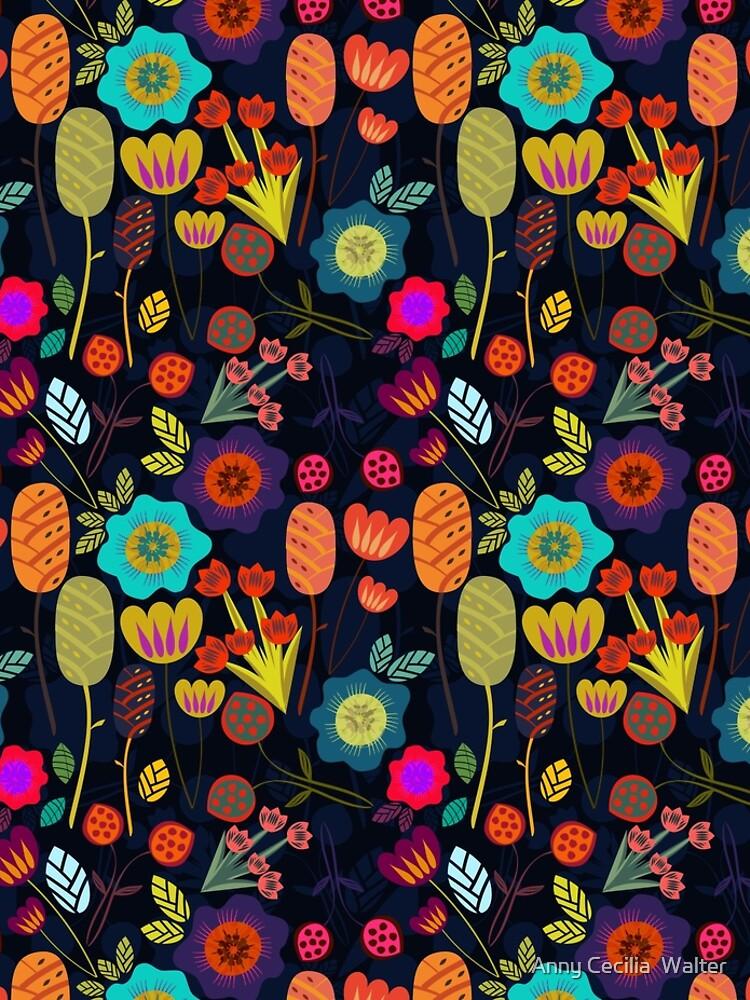 Magical night garden by AnnyCeciliaWalt