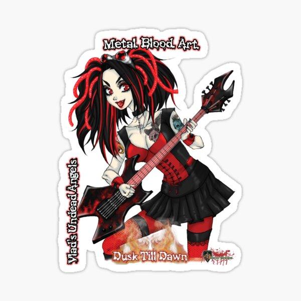 Undead Angels: Vampire Guitarist Sticker