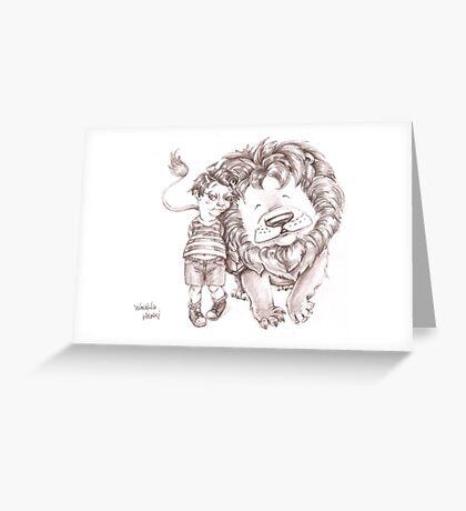 Walking Henri Greeting Card