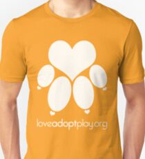 love paw (white) - loveadoptplay.org Unisex T-Shirt