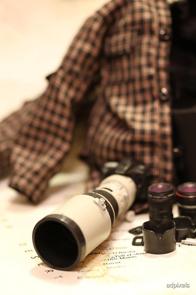 War Journalist Figurine - Photography gears I by adpixels