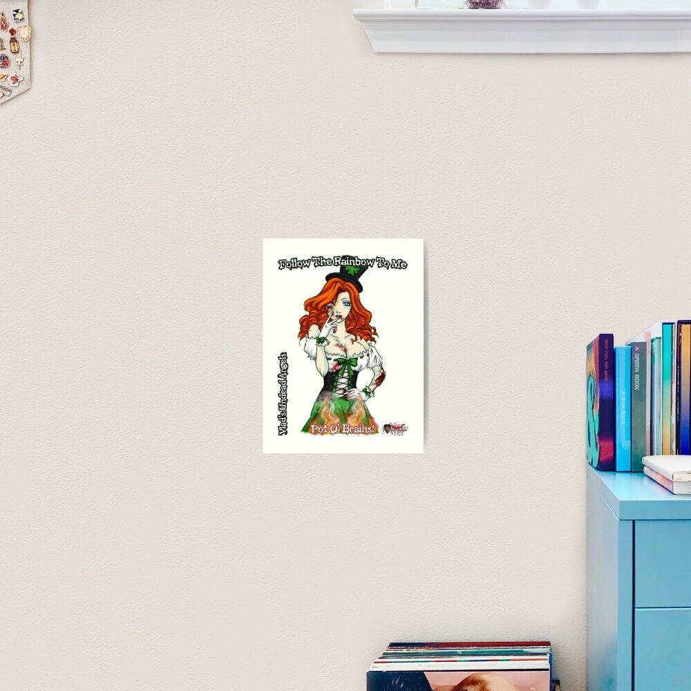 Undead Angels: Zombie St. Patricks Day Art Print