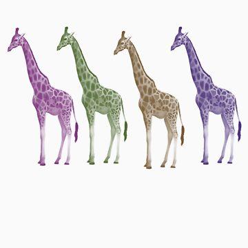 Giraffe TShirt by simpsonvisuals