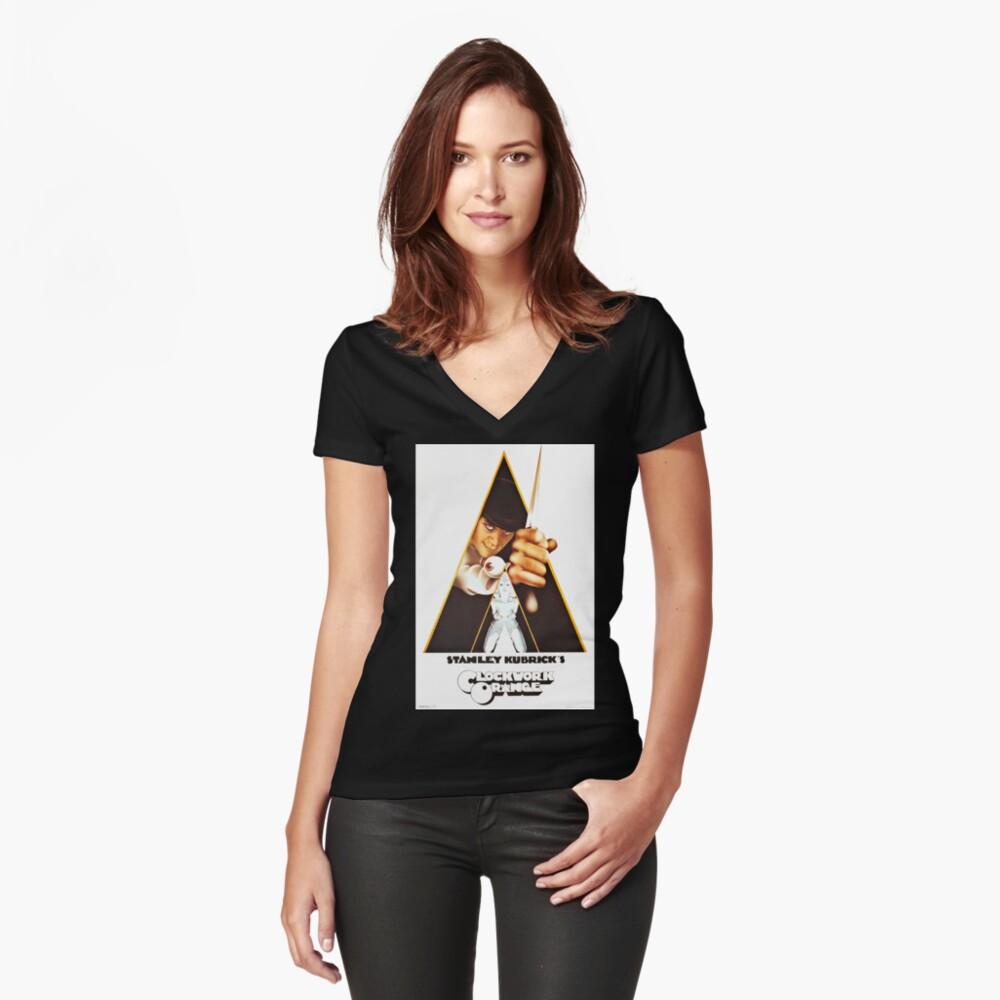 Vintage 1971 A Clockwork Orange, Posters, Movie, Retro Fitted V-Neck T-Shirt