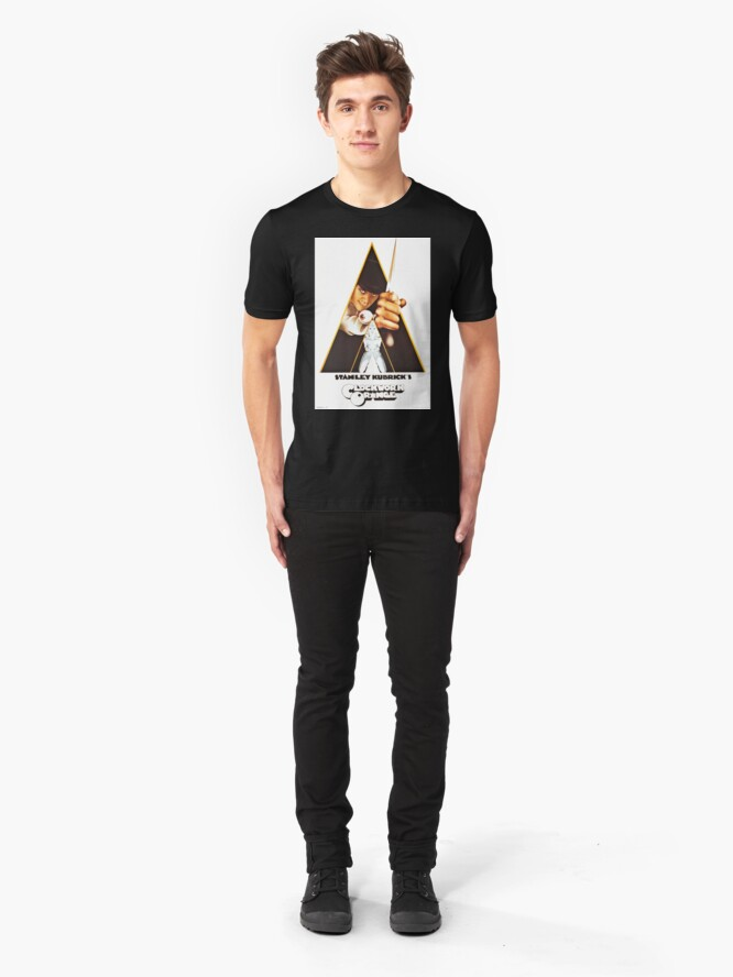Alternate view of Vintage 1971 A Clockwork Orange, Posters, Movie, Retro Slim Fit T-Shirt