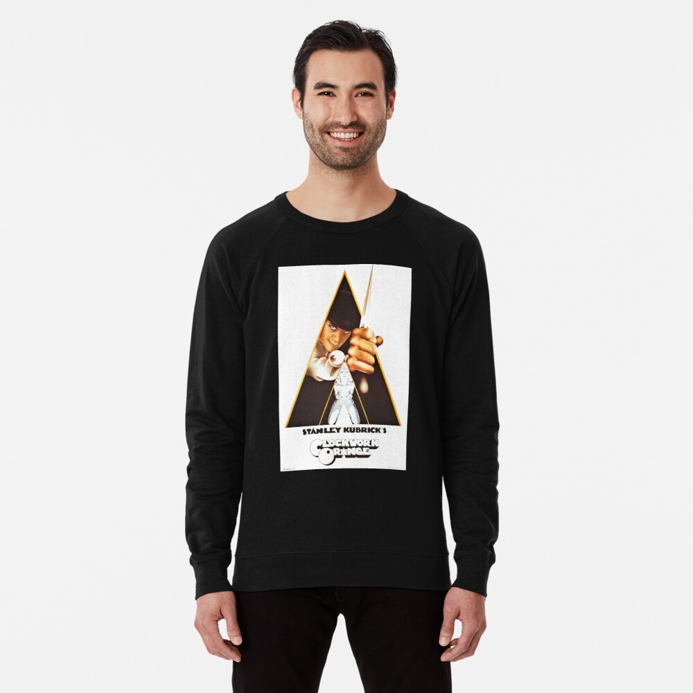 Vintage 1971 A Clockwork Orange, Posters, Movie, Retro Lightweight Sweatshirt