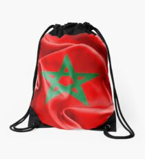 Morocco Flag Drawstring Bag