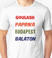 Hungary - funny word list  Unisex T-Shirt
