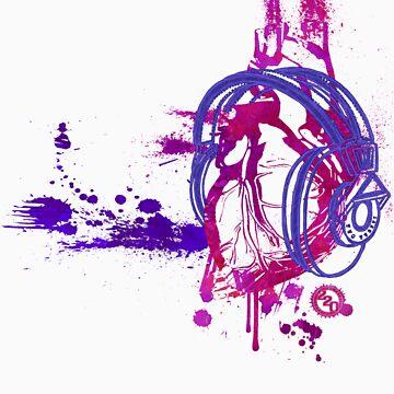 Eat, Sleep, Breathe ... MUSIC (purple) by 220clothing