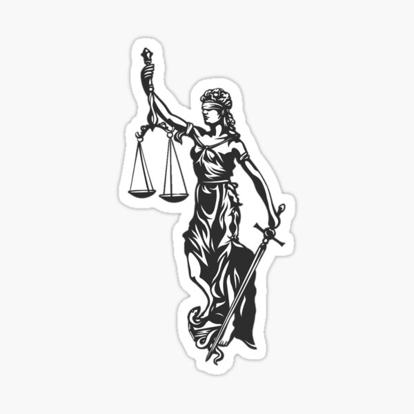 Lady Justice Sticker