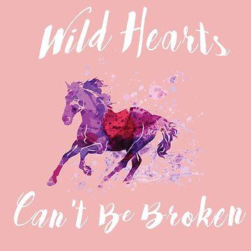 Wild Heart Of Horses T-Shirt by radekk1103