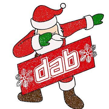Dabbing Santa Shirt Funny Santa Claus Dab Dance Shirt by LuckyU-Design