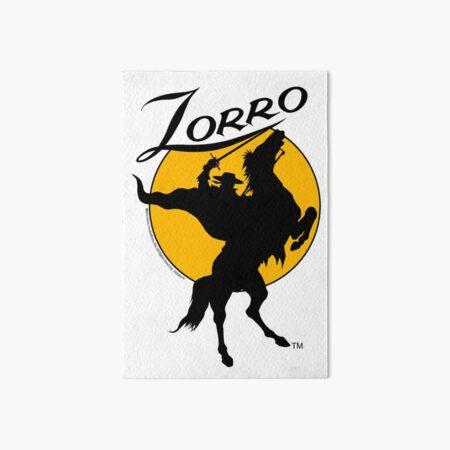 Zorro ™ Horse & Rider Silhouette Dawn 001a Lámina rígida