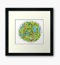 My Happy Planet Framed Print