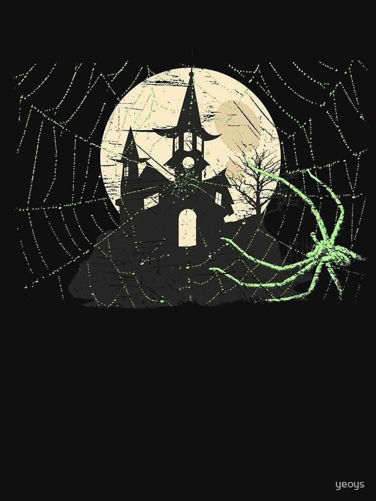 Spider Halloween Haunted Moon House - Scary Halloween Gift von yeoys