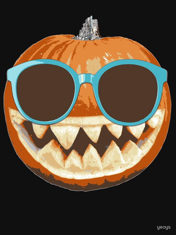 Pumpkin Jack-O-Lantern Sunglasses - Funny Halloween Gift von yeoys