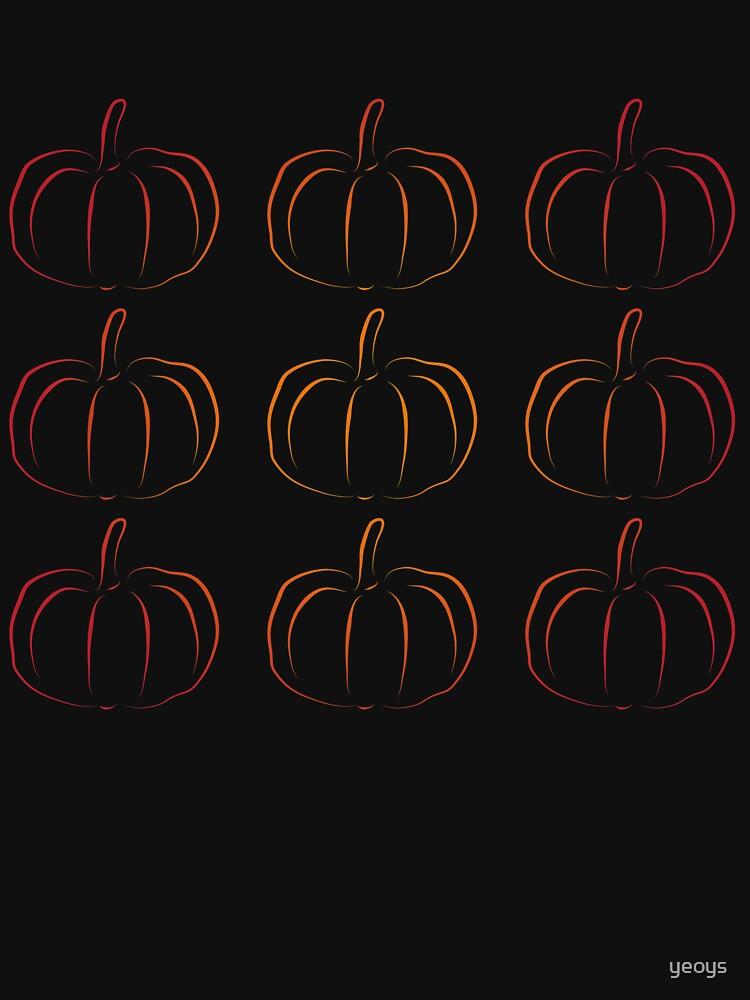 Pumpkin Jack-O-Lantern Silhouette - Funny Halloween Gift von yeoys