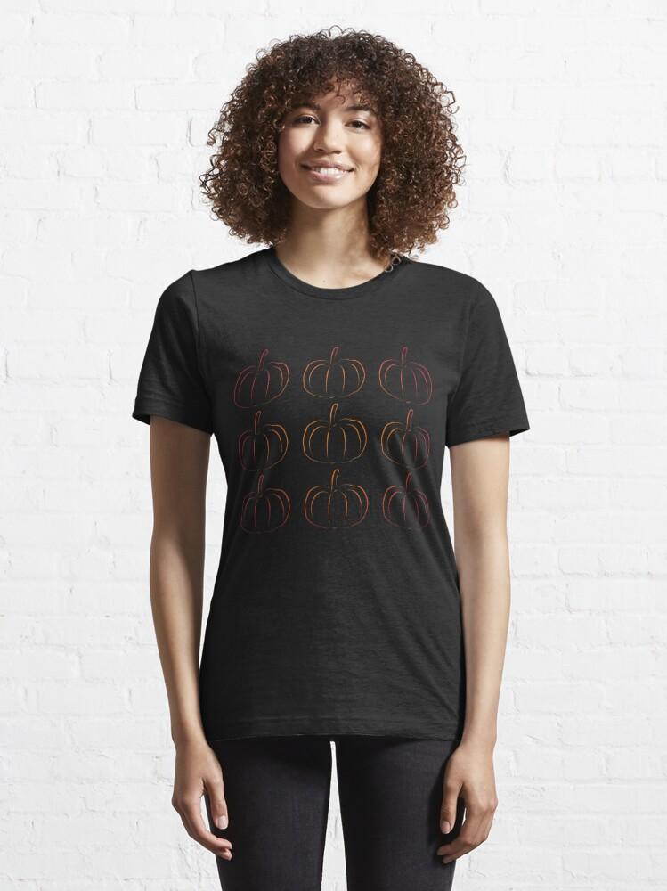 Alternative Ansicht von Pumpkin Jack-O-Lantern Silhouette - Funny Halloween Gift Essential T-Shirt