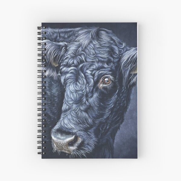 Blue Moo Spiral Notebook