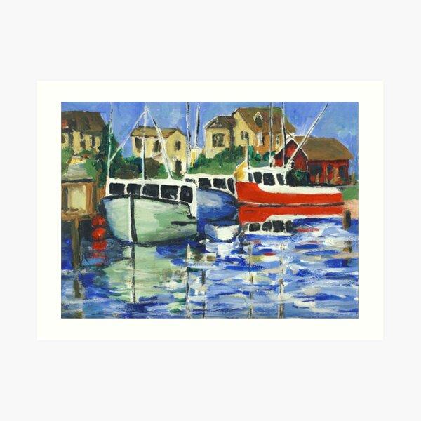 Peggy's Cove 3 Fisherman Art Print