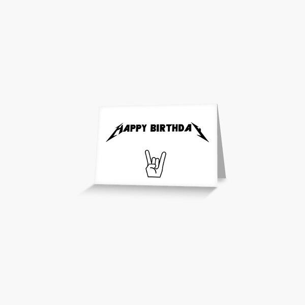 metal birthday card Greeting Card