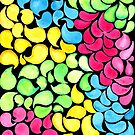 Hand-Painted Pattern | Groovy Teardrops by coloringiship